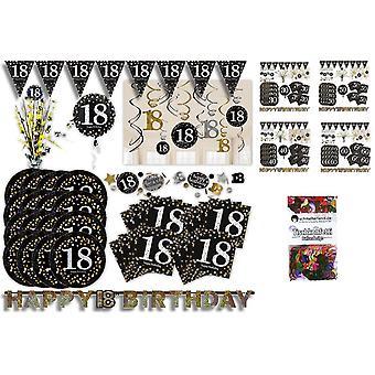 Aniversário da festa de brilho definido XL 50-teilig 16 convidados brilho decoração festa pacote
