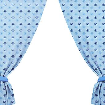 Manchester City FC Official Repeat Football Crest Design Curtains