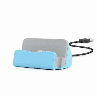 Cradle sync charger dock charging stand for Smartphone USB 3.1 type C blue