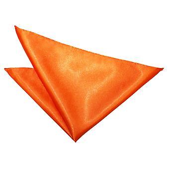 Burnt Orange clair Satin mouchoir de poche