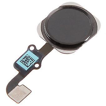 För iPhone 6 - iPhone 6 Plus -hem knapp Flex - svart | iParts4u