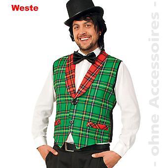 karrierte vest kostuum mens Jock moderator circus directeur mens kostuum