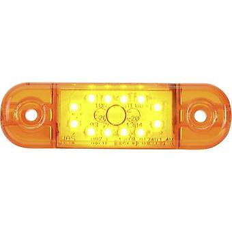 SecoRüt High-performance LEDs End outline marker Marker lateral 12 V, 24 V Orange Clear glass