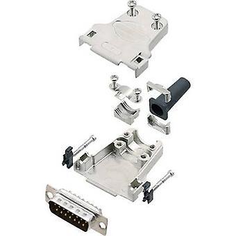 encitech DTZF15-DBP-K 6355-0044-02 D-SUB juego de tiras de pasador 180 - Número de pines: 15 Cubo de soldadura 1 Conjunto