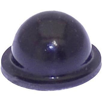 TOOLCRAFT PD2055SW pé preto de autoadesivos, circular (Ø x H) 9,6 mm x 5,4 mm 1 computador (es)