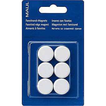 Maul magneet MAULpro (Ø x H) 20 mm x 8 mm rond, facet Edge wit 6 PC (s) 6176202