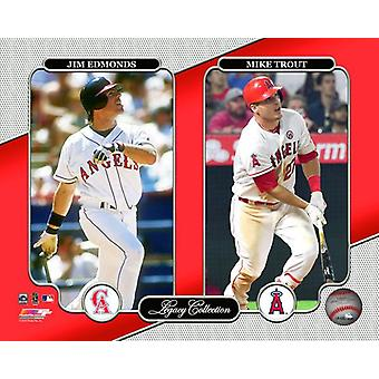 Los Angeles Angels Legacy Collection Jim Edmonds & Mike trota foto stampa