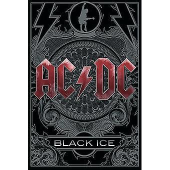 AC/DC cartel negro hielo 91.5 x 61 cm
