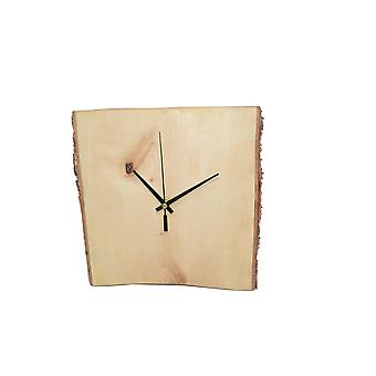 Houten Wandklok hout klok klok berk 26 x 26 cm gemaakt in Oostenrijk klok berken hout klok klok klok cadeau cadeau idee hout decoratie decoratie hout decoratie