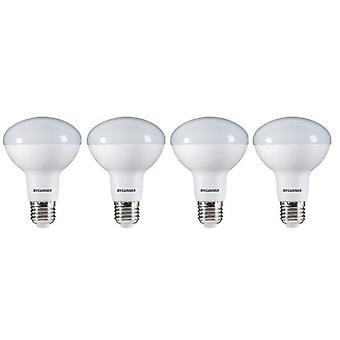 4 x Sylvania RefLED R80 V2 E27 9W Warm White LED 806lm [Energy Class A+ ]