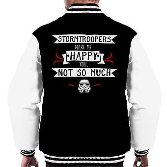 Original Stormtrooper Make Me Happy Men's Varsity Jacket