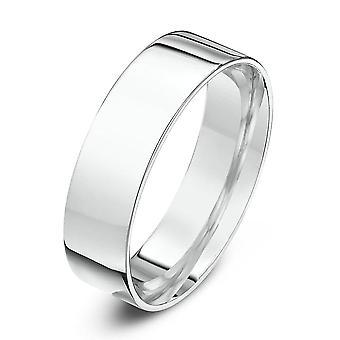 Anéis de casamento estrela 9ct ouro branco luz plano de corte forma 6mm anel de casamento