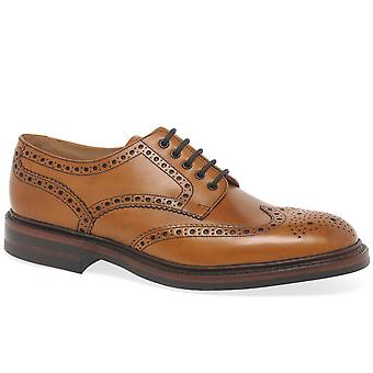 Loake Chester Dainite Mens Tan cuero Brogues