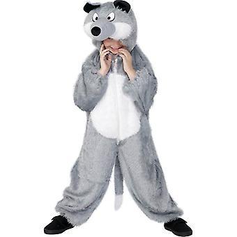 Wolf Kostüm, Medium.  Mittlere Alter 7-9