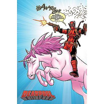 Deadpool Unicorn Poster