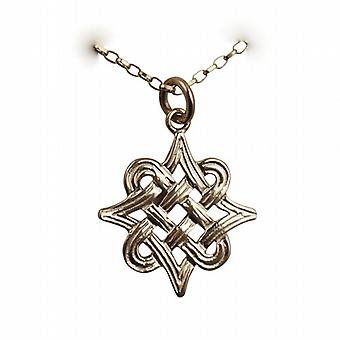 9ct Gold 23x23mm Islamic Motif Pendant with a belcher Chain 16 inches Only Suitable for Children