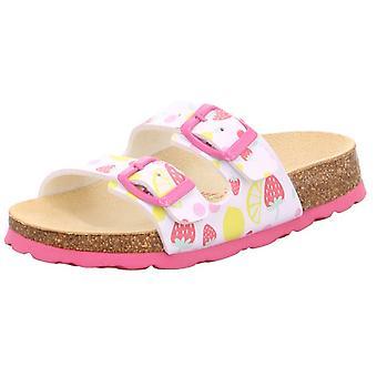 Tecno filles Superfit sandales 111-11 blanc rose fraise