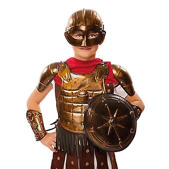 Gladiator Knight armor Gladiator costume child 7 items of silver or bronze