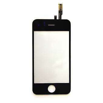 Apple の iPhone 3GS 黒互換性デジタイザー タッチ スクリーンします。