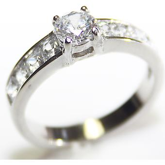 """محفورة مع """"أنا أحبك أمي & اقتبس - آه! خاتم مجوهرات الأميرة قطع"""