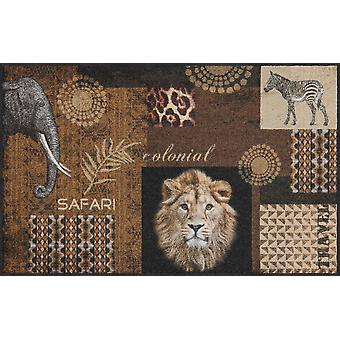 Salon lion doormat Tanzania 50 x 75 cm washable dirt mat