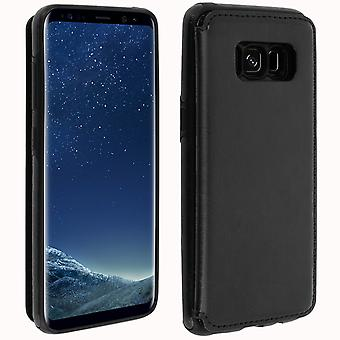 Samsung Galaxy S8 Plus Shockproof Case, Card Holder Wallet, Forcell, Black