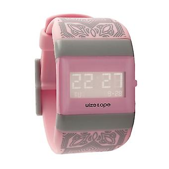 Wize and Ope Medina  Pink Digital  Watch WO-MED-3