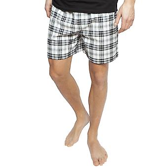 Cyberjammies 6387 Hommes Isaac Black Mix Check Cotton Pyjama Short