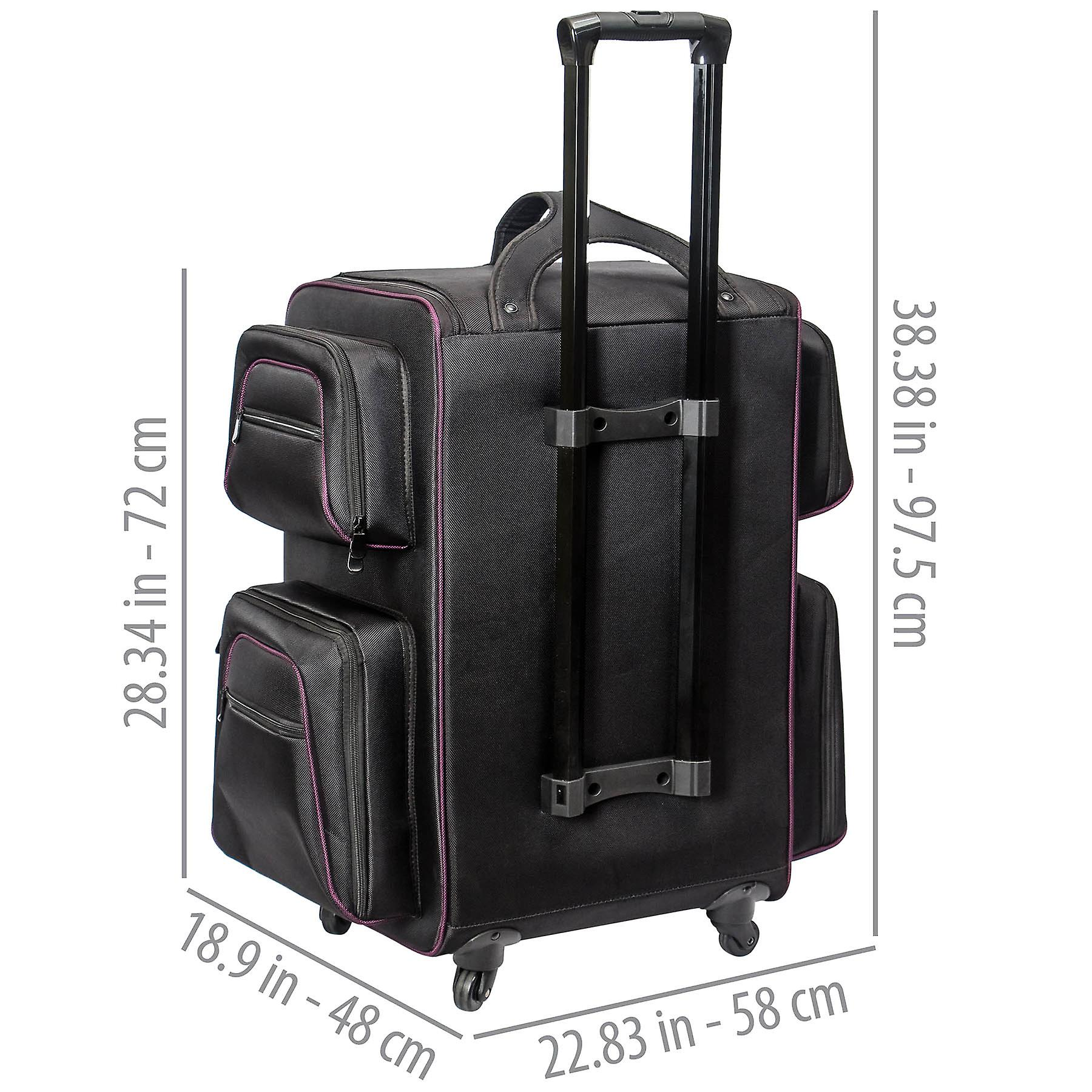 SAC de maquillage DE voyage SHANY Total Jetsetter - XL Soft Travel Cosmetics Bag with Multiple Compartment - 10 Free Makeup Organizers - Makeup Trolley - Backpack - BLACK