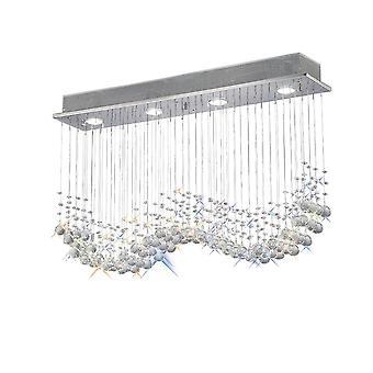 Diyas Colorado Pendant Line 4 Light Polished Chrome/Crystal