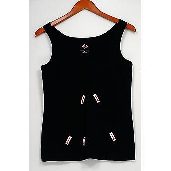 إسحاق مزراحي لايف! Women & s Top Scoop Neck Knit Tank Black A252572