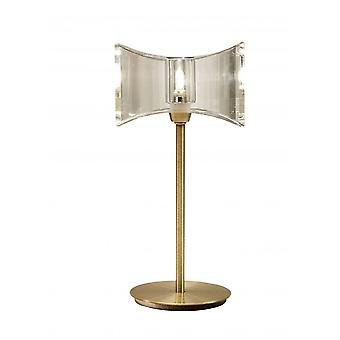 Mantra Kromo Table Lamp 1 Light G9 Sraight Frame, Antique Brass