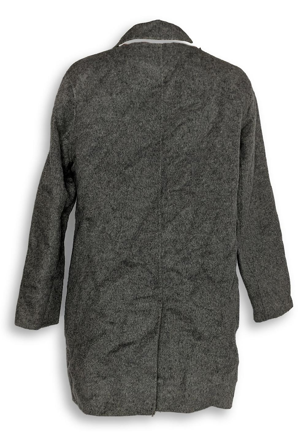 LOGO by Lori Goldstein Women's Button Front Coat Brown A283033