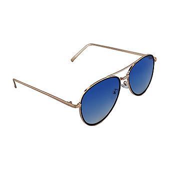 Sunglasses UV 400 Aviator Gold BlauwHL131_4
