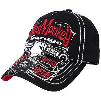 Gas Monkey Garaż Strapback Czarny i czerwony kapelusz