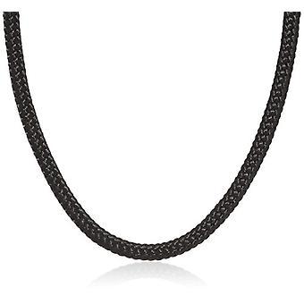 נשיקות יפות-שרשרת לנשים קצרות של עור-שחור-42 ס מ