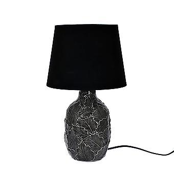 Lámpaasztal fekete kerámia H43 cm