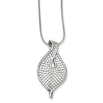 925 Sterling Silver Rhodium plated Lobster Claw Closure and CZ Cubic Zirconia Simulated Diamond Necklace 18 Inch Jewelry
