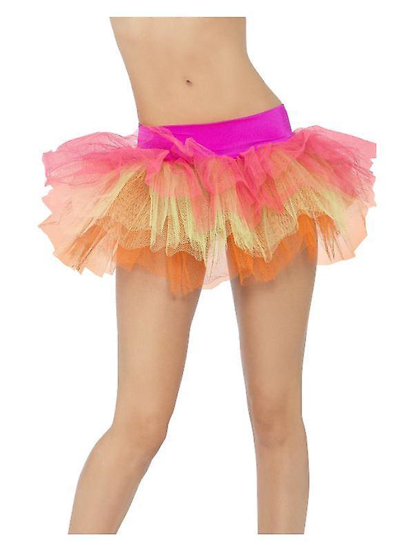 Womens Multi gekleurde Tutu onderjurk Fancy Dress accessoire