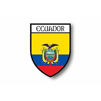 Autocollant Sticker Voiture Moto Blason Ville Drapeau Equateur Equatorien