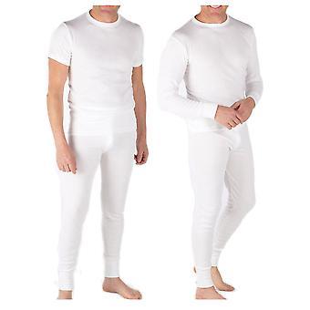 2 pary męskie zimowe termiczne Krótki rękaw długi rękaw T Shirt Long John spodnie