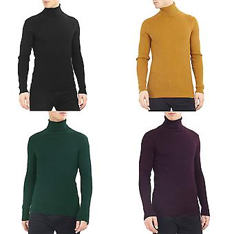 Brave Soul Mens Rally Long Sleeve Roll Neck Pullover Turtleneck Jumper Sweater