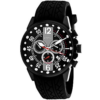 Roberto Bianci Hommes apos;s Messina Black Dial Watch - RB70985