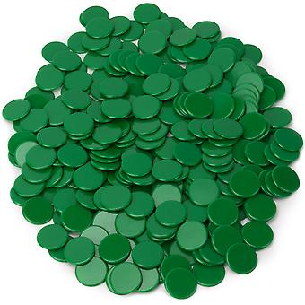 Solid Green Bingo Chips, 300er-Pack