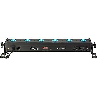 Ibiza Sound Ibiza led Bar6-RC Rgbw LED bar med fjernbetjening