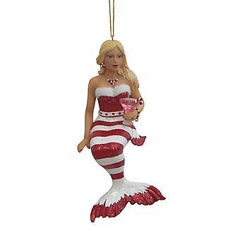 Nautical Mermaid Beauty Peppermint Holiday Ornament