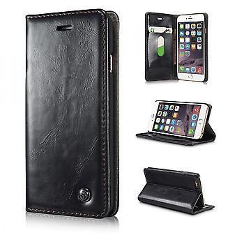 Kotelo iPhone 6 Plus musta lompakko