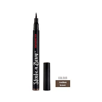 Ardell Beauty Stroke A Brow Water Resistant Eyebrow Feathering Pen Medium Brown