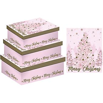 Eurowrap Christmas Trees Shirt Gift Boxes (Pack of 3)