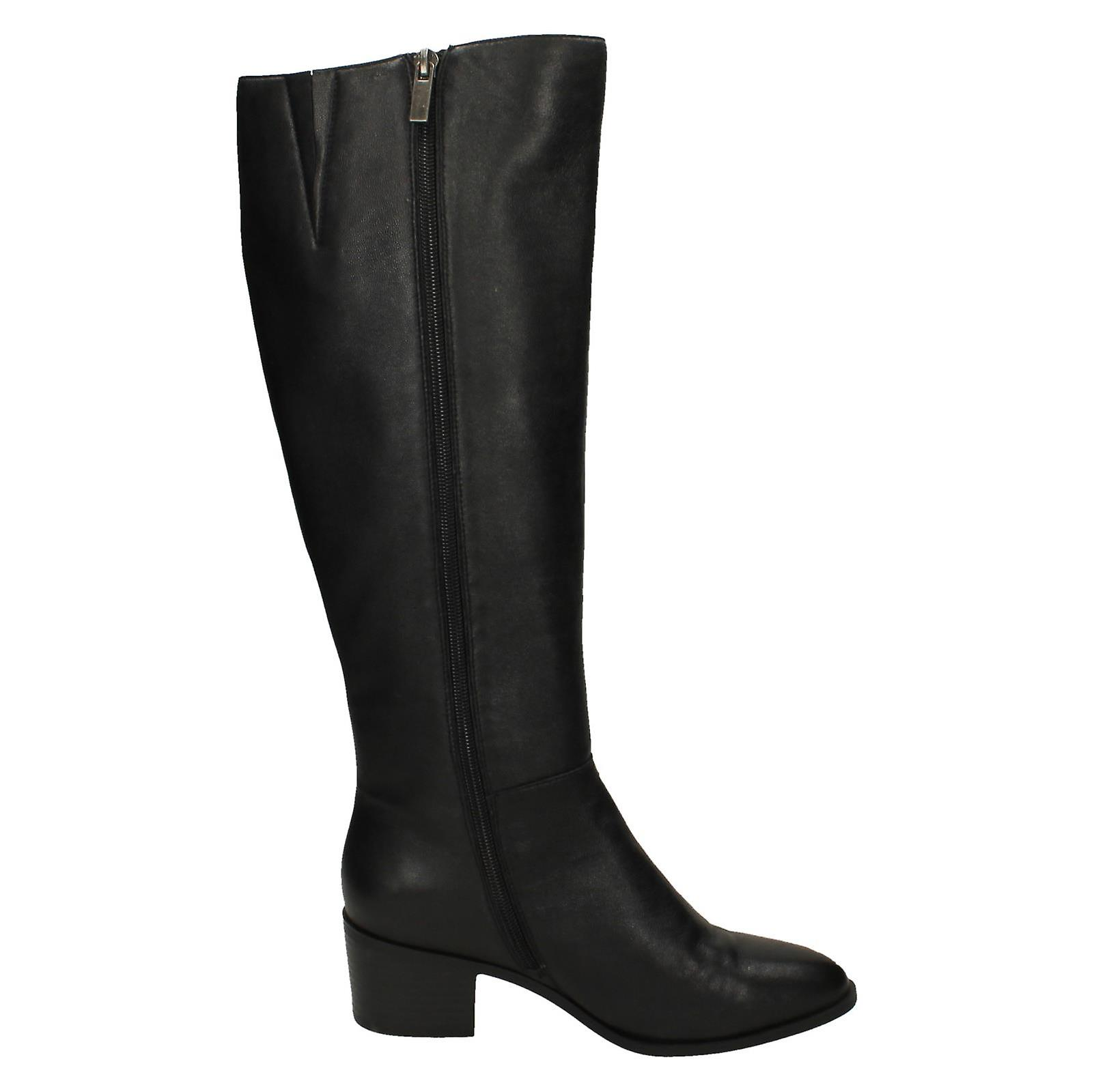 Ladies Leather Collection Knee High Boots F51125